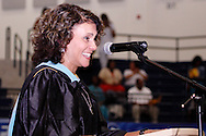 Alter principal Lourdes Lambert speaks during the 47th commencement excercise of Archbishop Alter High School at Trent Arena in Kettering, Saturday, May 26, 2012.
