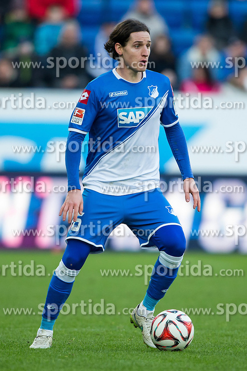 28.02.2015, Rhein Neckar Arena, Sinsheim, GER, 1. FBL, TSG 1899 Hoffenheim vs 1. FSV Mainz 05, 23. Runde, im Bild Sebastian Rudy (TSG 1899 Hoffenheim), Freisteller, Aktion /Action // during the German Bundesliga 23rd round match between TSG 1899 Hoffenheim and 1. FSV Mainz 05 at the Rhein Neckar Arena in Sinsheim, Germany on 2015/02/28. EXPA Pictures &copy; 2015, PhotoCredit: EXPA/ Eibner-Pressefoto/ Neis<br /> <br /> *****ATTENTION - OUT of GER*****