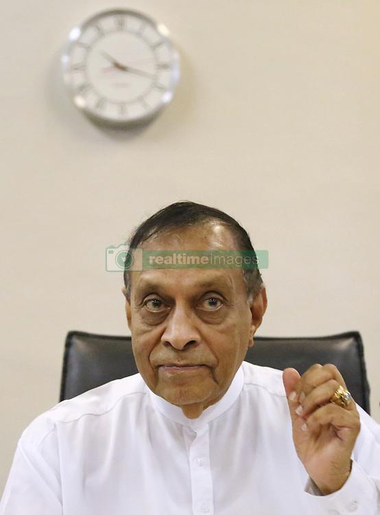 November 2, 2018 - Sri Lanka - Sri Lanka's Speaker of the Parliament Karu Jayasuriya, looks on during the party leaders and members meeting at the parliament in Colombo, Sri Lanka ,Friday ,November 2, 2018. (Credit Image: © Pradeep Dambarage/Pacific Press via ZUMA Wire)