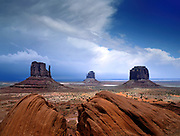 Clearing hail storm, Monument Valley Tribal Park, Arizona