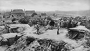 World War I 1914-1918: German underground infantry shelters, 1915. Military, Army, Soldier