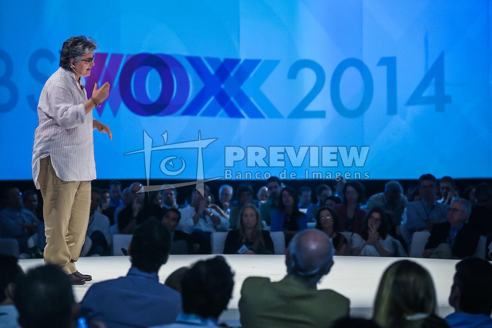 Flavia Moraes durante o VOX - The Joy of Sharing, evento que  pretende provocar reflexões sobre o futuro da comunicação a partir do compartilhamento de conteúdo e experiências. FOTO: Jefferson Bernardes/ Agência Preview