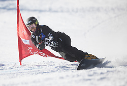 Beaulieu Sebastien during the men's Snowboard giant slalom of the FIS Snowboard World Cup 2017/18 in Rogla, Slovenia, on January 21, 2018. Photo by Urban Meglic / Sportida