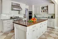 Stamford home, kichen. Interior design by Jeffrey Kilmer Design.