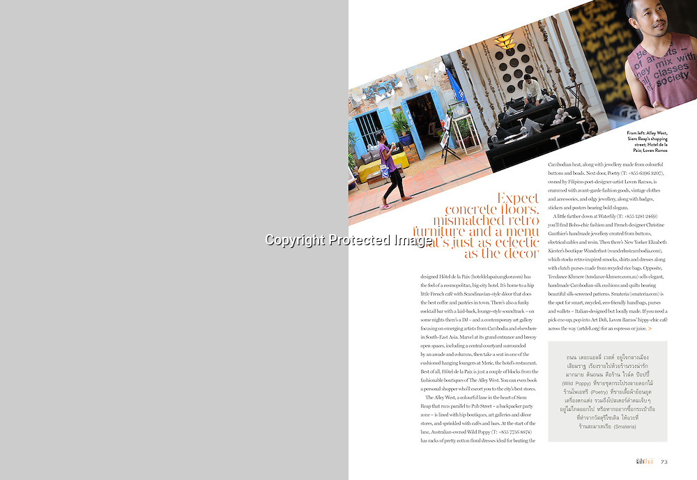 Fah Thai Magazine (Bangkok Airways) feature on Siem Reap, Cambodia