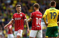 Jamie Paterson of Bristol City talks with Matty Taylor of Bristol City - Mandatory by-line: Robbie Stephenson/JMP - 23/09/2017 - FOOTBALL - Carrow Road - Norwich, England - Norwich City v Bristol City - Sky Bet Championship