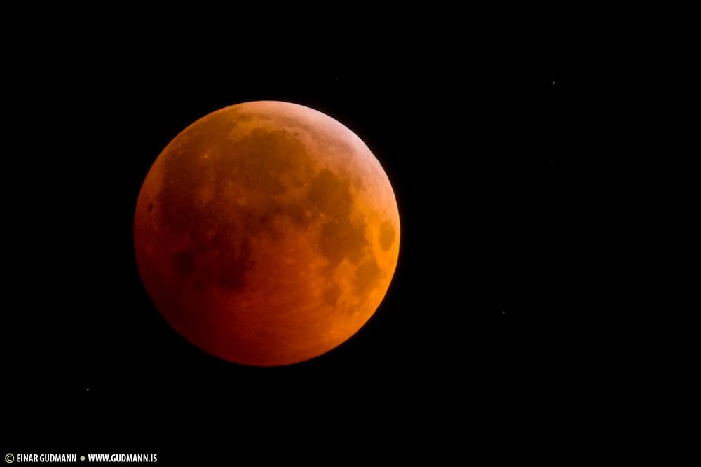 Moon Eclipse seen from Akureyri, Iceland