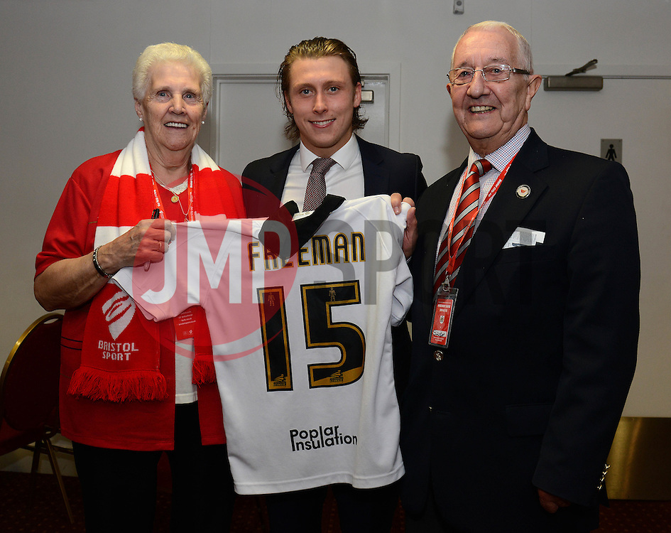 Man of the match presentation - Photo mandatory by-line: Dougie Allward/JMP - Mobile: 07966 386802 - 07/04/2015 - SPORT - Football - Bristol - Ashton Gate - Bristol City v Swindon Town - Sky Bet League One