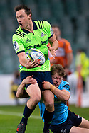 SYDNEY, NSW - MAY 19: Highlanders player Ben Smith gets tackled by Waratahs player Cameron Clark at week 14 of the Super Rugby between The Waratahs and Highlanders at Allianz Stadium in Sydney on May 19, 2018. (Photo by Speed Media/Icon Sportswire)