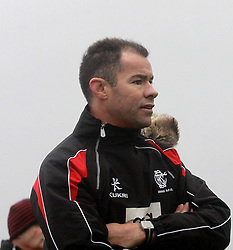 Cooke RFC's Head Coach former Ulster captain and Irish International Andy Ward watching saturday's cup match against Westport ...Pic Conor McKeown