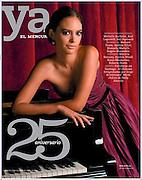 Mahani Teave, destacada pianista rapa nui. Revista Ya, edicion aniversario 25 años