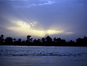 River Nile at sunset. Egypt