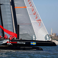 Practice Session action with Artemis Racing – Red . Mandatory Credit: Dinno Kovic
