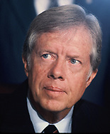 A Jimmy Carter portrait.  <br /> by Dennis Brack