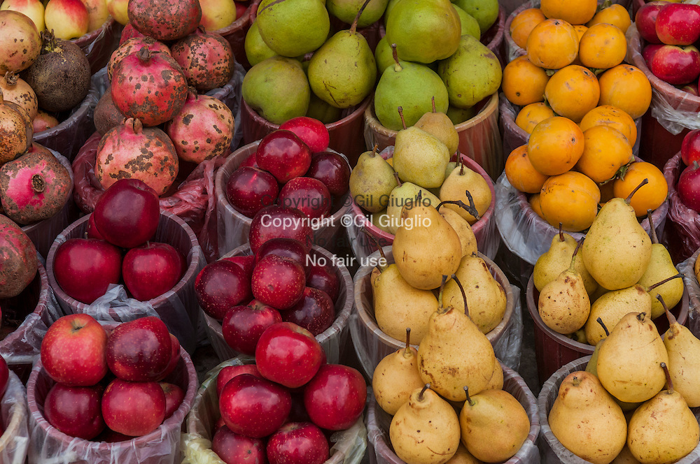 Azerbaïdjan, Bakou, marché aux fruit Taza Bazaar// Azerbaidjan, Baku, fruits market of Taza Bazaar
