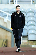 Fabian Schar (#5) of Newcastle United arrives ahead of the Premier League match between Newcastle United and Southampton at St. James's Park, Newcastle, England on 8 December 2019.