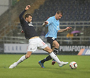 Dundee's Iain Davidson and Falkirk's Rory Loy - Falkirk v Dundee, SPFL Championship at <br /> Falkirk Stadium<br />  - &copy; David Young - www.davidyoungphoto.co.uk - email: davidyoungphoto@gmail.com