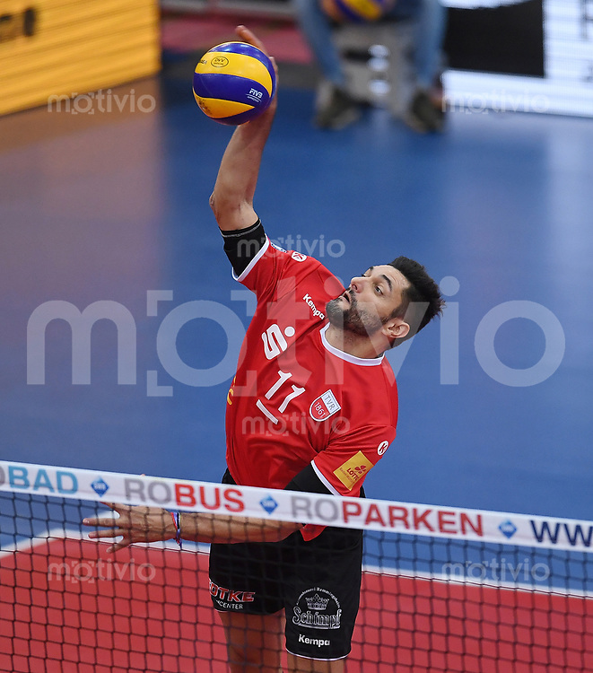 Volleyball 1. Bundesliga  Saison 2017/2018 TV Rottenburg - Volley Bisons Buehl       11.11.2017 Idner Faustino Lima Martins (TV Rottenburg)
