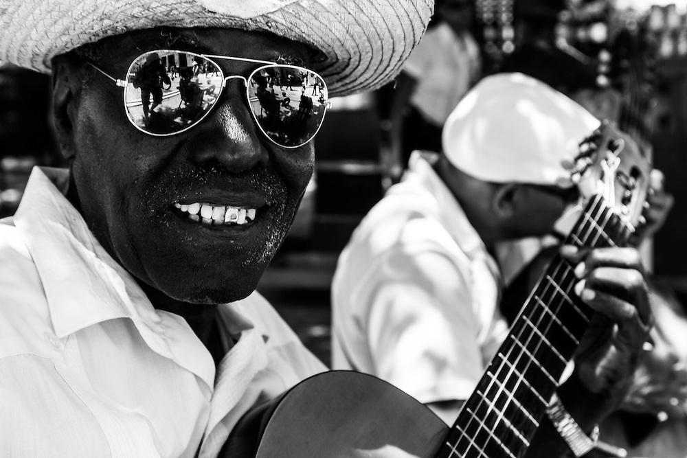Where: Havana, Cuba.<br /> A local music band in the old city of Havana