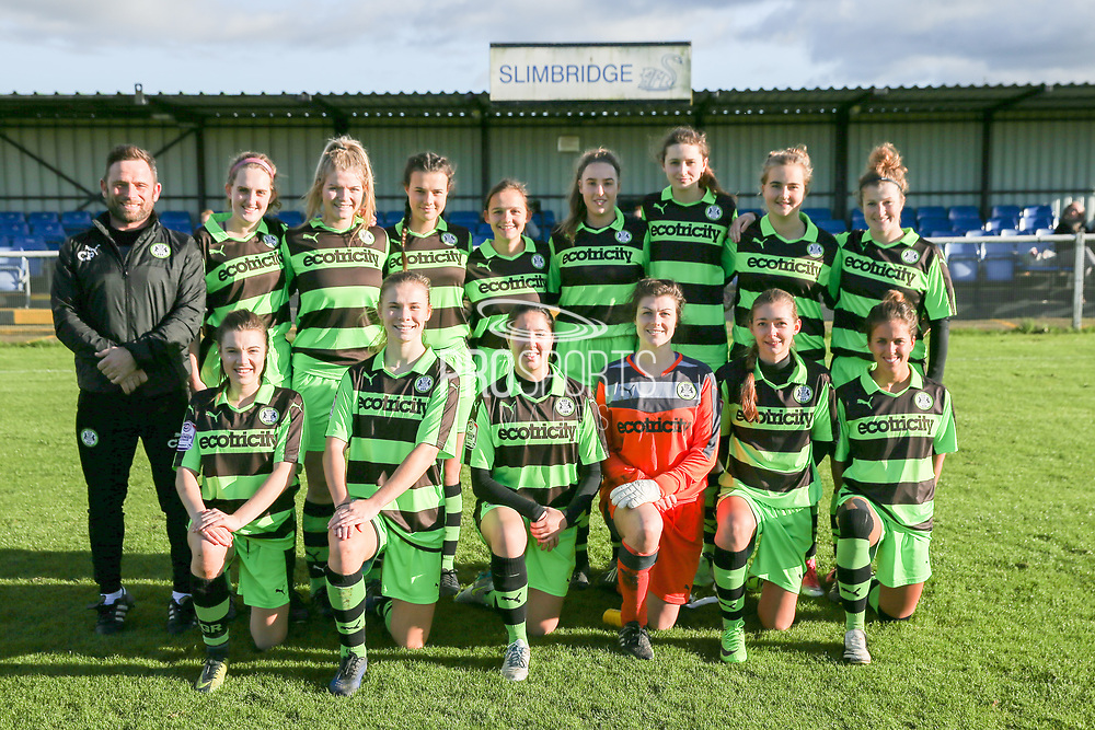 FGR ladies during the South West Womens Premier League match between Forest Greeen Rovers Ladies and Marine Academy Plymouth LFC at Slimbridge FC, United Kingdom on 5 November 2017. Photo by Shane Healey.
