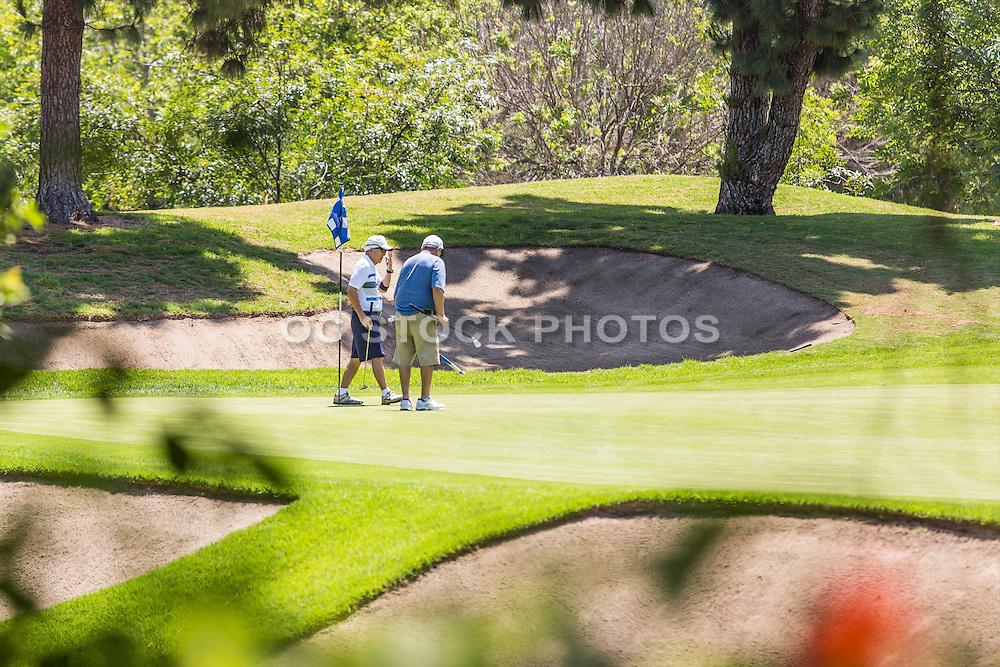 Men Golfing at Los Coyotes Country Club in Buena Park