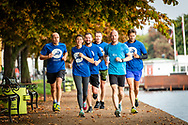 INSOL Europe team members and delegates enjoy an early-morning run around the lakes of Copenhagen. The lakes are right outside Copenhagen Scandic Hotel where the event took place.<br /> <br /> © Images Copyright Copenhagen Event Photographer Matthew James