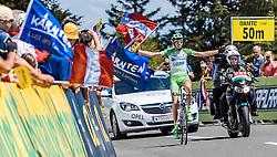 07.07.2016, Villach, AUT, Ö-Tour, Österreich Radrundfahrt, 5. Etappe, Millstatt auf den Dobratsch, im Bild Simone Sterbini (ITA, Bardiani CSF, Etappensieger) // Simone Sterbini (ITA Bardiani CSF Stage Winner) during the Tour of Austria, 5th Stage from Millstatt nach Dobratsch. Villach, Austria on 2016/07/07. EXPA Pictures © 2016, PhotoCredit: EXPA/ JFK