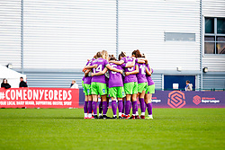 Bristol City Women huddle prior to kick off - Mandatory by-line: Ryan Hiscott/JMP - 14/10/2018 - FOOTBALL - Stoke Gifford Stadium - Bristol, England - Bristol City Women v Birmingham City Women - FA Women's Super League 1