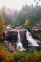 The Blackwater River, falls over a 62 foot embankment in Blackwater Falls State Park. The Park located in the Allegheny Mountains of Tucker County, West Virginia, offers scenic beauty and plenty of outdoor recreation including hiking, biking, and cross country skiing..