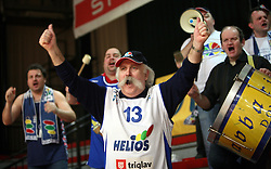 Ravbarji - Fans of Helios Domzale at basketball game Geoplin Slovan - Helios Domzale in in the second match of quarter-final of Spar Cup, on February 7, 2008 in Ljubljana, Slovenia.   (Photo by Vid Ponikvar / Sportal Images).