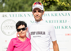 Rogina Radoslav of Adria Mobil  in white jersey as winner of points classification during trophy ceremony after the cycling race 48th Grand Prix of Kranj 2016 / Memorial of Filip Majcen, on July 31, 2016 in Kranj centre, Slovenia. Photo by Vid Ponikvar / Sportida