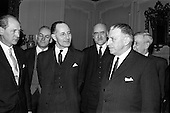 1965 - Prime Minister of Northern Ireland, Captain Terence O'Neill visits Taoiseach Sean Lemass