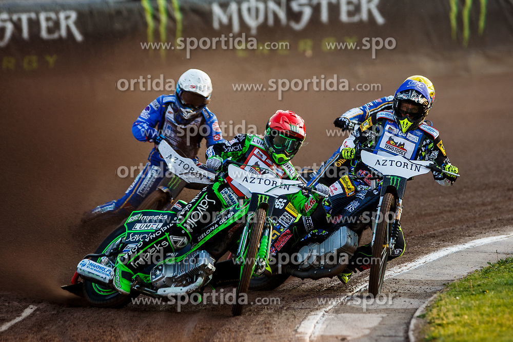 Patryk Dudek #692 of Poland and Fredrik Lindgren #66 of Sweden during FIM Speedway Grand Prix World Cup, Krsko, on 29th of April, 2017, in Sports park Krsko, Slovenia. Photo by Grega Valancic / Sportida