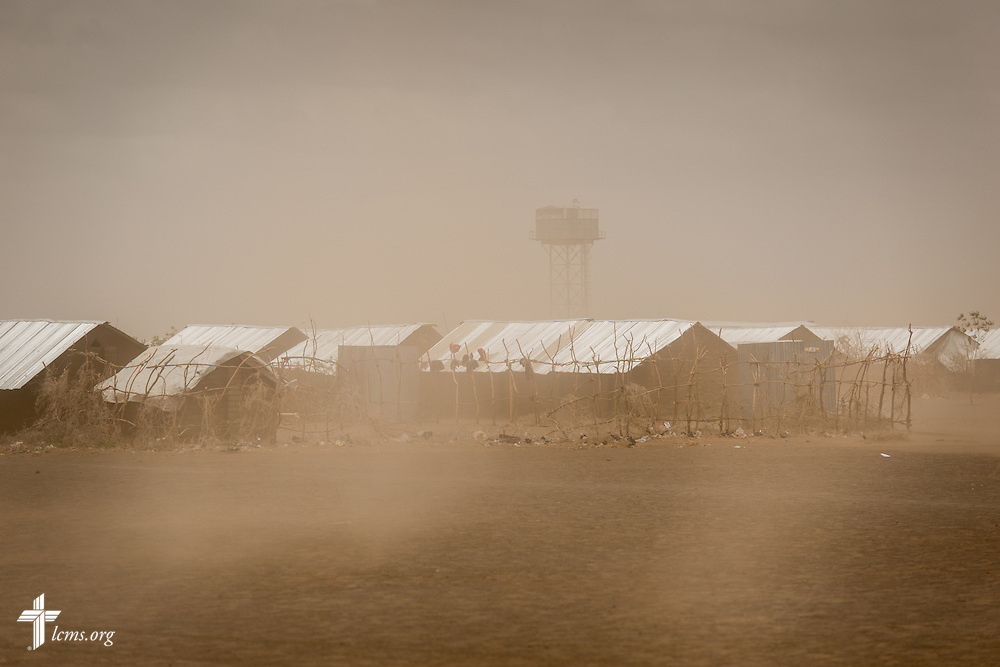 A small dust storm whips around the Kakuma Refugee Camp on Saturday, Oct. 17, 2015, in Kakuma, Kenya. LCMS Communications/Erik M. Lunsford