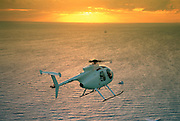 Helicopter in Sunset<br />