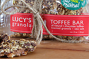 Lucy's Granola Toffee Bar product photo shoot and styling