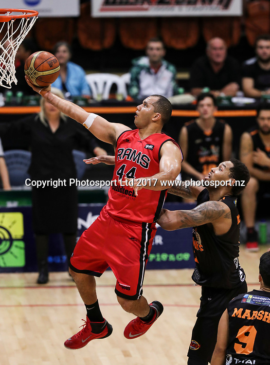 Rams Marques Whippy. Hawks v Rams, NBL Basketball, PG Arena, Napier, New Zealand. Tuesday, 25 April 2017. Copyright photo: John Cowpland / www.photosport.nz