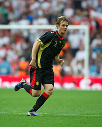 LONDON, ENGLAND - Saturday, June 2, 2012: Belgium's Guillaume Gillet in action against England during the International Friendly match at Wembley. (Pic by David Rawcliffe/Propaganda)