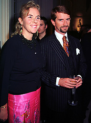 COUNT & COUNTESS MANFREDI DELLA GHERARDESCA, at a party in London on 7th October 1999.MXI 54