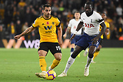 Wolverhampton Wanderers defender Jonny Castro (19) plays a pass during the Premier League match between Wolverhampton Wanderers and Tottenham Hotspur at Molineux, Wolverhampton, England on 3 November 2018.