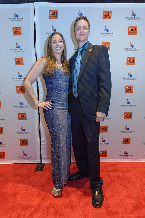 Amber Gell, rocket scientist from Lockheed Martin and NASA, and Arizona Senator Andrew Sherwood on the red carpet at the fourth annual Muhammad Ali Humanitarian Awards Saturday, Sept. 17, 2016 at the Marriott Hotel in Louisville, Ky. (Photo by Brian Bohannon for the Muhammad Ali Center)