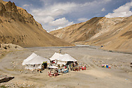 "Every few hundred kilometers, there was a ""rest stop"" with tents to rest in, and a few basic refreshments."