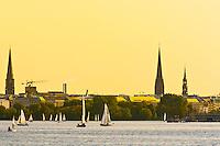 Sailboats, Alster Lake, Hamburg, Germany