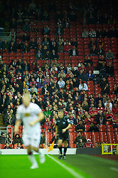 LIVERPOOL, ENGLAND - Wednesday, September 22, 2010: Empty seats during the Football League Cup 3rd Round match between Liverpool and Northampton Town at Anfield. (Photo by David Rawcliffe/Propaganda)