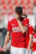 ALKMAAR - 30-08-2015, AZ - Roda JC, AFAS Stadion, 0-1, teleurstelling, AZ speler Robert Muhren.