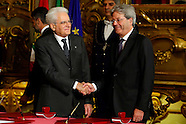 Italy New Government Swearing Ceremony 12 Dec 2016