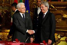 Italy New Government Swearing Ceremony 12 Dec 2016