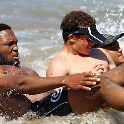DURBAN, SOUTH AFRICA, December 10. 2015 -Lukhanyo Am during The Cell C Sharks Pre Season Beach South Beach training for the 2016 Super Rugby Season . (Photo by Steve Haag)<br /> images for social media must have consent from Steve Haag