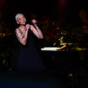 Mariza, ComIH, born Marisa dos Reis Nunes, is a popular Portuguese fado singer preforms at Jazz Voice - Festival opening gala at Royal Festival Hall on 16 Nov 2018, London, UK.