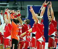 GEPA-26011050090 - INNSBRUCK,AUSTRIA,26.JAN.10 - SPORT DIVERS, HANDBALL - EHF Europameisterschaft, EURO 2010, Laenderspiel, Polen vs Tschechien. Bild zeigt den Jubel von Polen. Foto: GEPA pictures/ Thomas Bachun.FOT. GEPA / WROFOTO.*** POLAND ONLY !!! ***